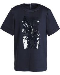 DKNY - Embellished Scuba Top - Lyst