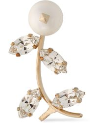 Valentino - Gold-tone, Faux Mother-of-pearl And Crystal Ear Cuff - Lyst