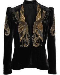 Anna Sui - Phoenix Embellished Velvet Jacket - Lyst