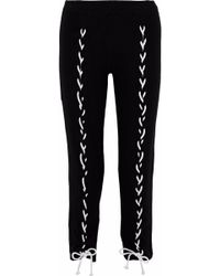 LNA - Brushed Piper Lace-up Cropped Stretch- Track Pants - Lyst