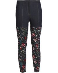 Cinq À Sept - Embroidered High-rise Skinny Jeans Dark Denim - Lyst