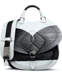 Maison Margiela - Two-tone Coated Leather Shoulder Bag - Lyst