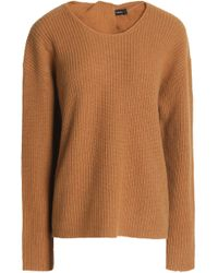 Theory - Open-back Ribbed Cashmere Jumper - Lyst