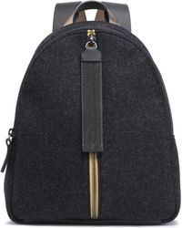 Brunello Cucinelli - Leather-trimmed Wool-felt Backpack - Lyst