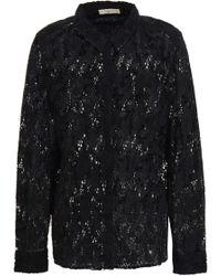 Ba&sh Augusta Cotton-broderie Anglaise Shirt Black