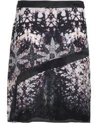 Roberto Cavalli - Printed Silk Crepe De Chine Skirt - Lyst