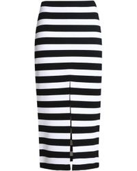 Proenza Schouler - Striped Stretch-knit Midi Skirt - Lyst