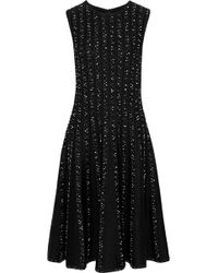 Jason Wu - Embroidered Ribbed Wool-blend Dress - Lyst