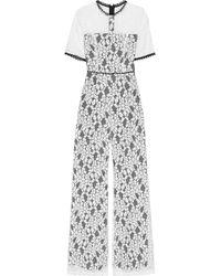 Alexis - Janus Cutout Corded Lace Jumpsuit - Lyst