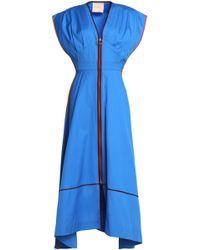 ROKSANDA - Gathered Cotton-poplin Midi Dress - Lyst