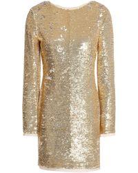 Rachel Zoe - Tie-back Sequined Chiffon Mini Dress - Lyst