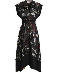 ROKSANDA - Zip-detailed Fil Coupé Midi Dress - Lyst