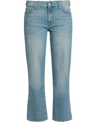 7 For All Mankind - High-rise Kick-flare Jeans - Lyst