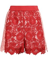 Maje - Two-tone Guipure Lace Shorts - Lyst