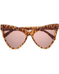 82ccc16ba4b2 Stella McCartney - Woman Cat-eye Leopard-print Acetate Sunglasses Light  Brown - Lyst