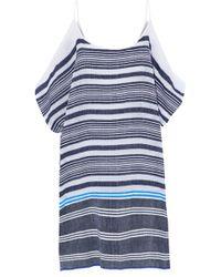 lemlem - Cold-shoulder Striped Cotton-blend Gauze Coverup - Lyst