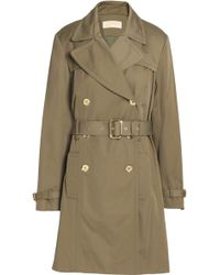 MICHAEL Michael Kors - Belted Cotton-blend Gabardine Trench Coat - Lyst