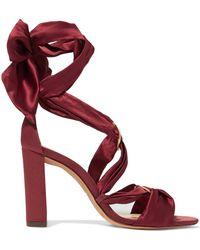 Alexandre Birman - Lace-up Satin Sandals - Lyst