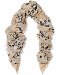 Chan Luu - Frayed Printed Modal, Cashmere And Silk-blend Gauze Scarf - Lyst