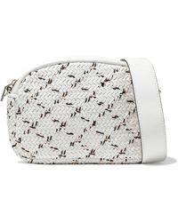 Maje - Basketweave Leather Shoulder Bag - Lyst