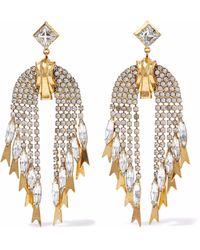 Elizabeth Cole - 24-karat Gold-plated Crystal Earrings Gold - Lyst