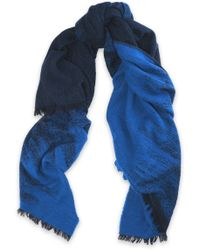 Maje - Frayed Wool-blend Scarf - Lyst
