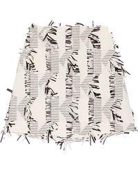 Karl Lagerfeld - Fringed Piqué Mini Skirt - Lyst