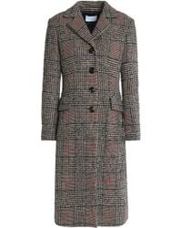 Sandro - Prince Of Wales Checked Wool-blend Coat - Lyst
