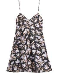 Zimmermann - Flared Floral-print Linen Mini Dress - Lyst