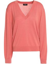 Theory - Merino Wool Jumper Antique Rose - Lyst