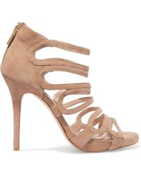 Lucy Choi - Romeo Cutout Suede Sandals - Lyst