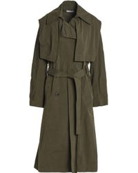 Vince - Double-breasted Woven Trench Coat - Lyst