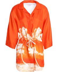 Orlebar Brown - Coverups Bright Orange - Lyst