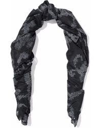 Rag & Bone - Printed Cotton And Silk-blend Scarf Midnight Blue - Lyst