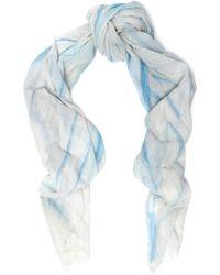 Maje - Elvire Printed Cotton-gauze Scarf - Lyst