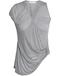 Kain - Asymmetric Wrap-effect Modal And Silk-blend Jersey Top - Lyst