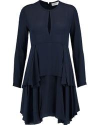 A.L.C. - Vicky Tiered Silk-crepe Mini Dress - Lyst
