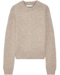 Helmut Lang - Brushed Mélange Knitted Sweater Sand - Lyst