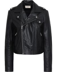 Ba&sh - Leather And Suede Biker Jacket - Lyst