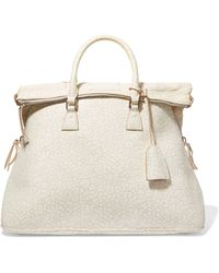 Maison Margiela - Textured-leather Tote - Lyst