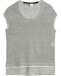 Iris & Ink - Striped Linen-blend Top - Lyst