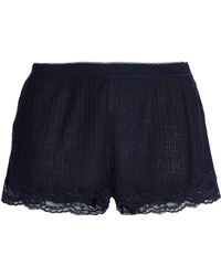 Stella McCartney - Lace-trimmed Ribbed Jersey Pajama Shorts - Lyst