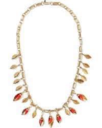 Aurelie Bidermann - Aurélie Bidermann Woman Monteroso Gold-tone Resin Necklace Gold - Lyst
