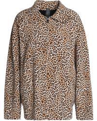 Norma Kamali - Reversible Leopard-print Neoprene Jacket - Lyst
