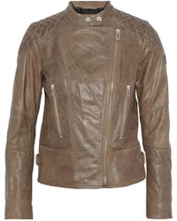 Belstaff - Glyde Leather Biker Jacket - Lyst