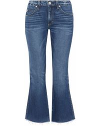 AMO - Distressed Mid-rise Kick-flare Jeans - Lyst