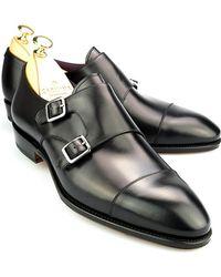 Carmina - Black Double Monk Straps - Lyst
