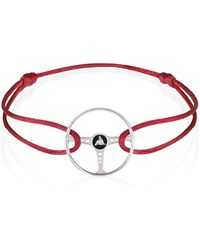 The Mechanists - Sterling Silver On Red Silk Cord Revival Steering Wheel Bracelet - Lyst