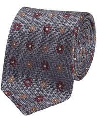 Fumagalli 1891 - Blue Floral Pattern Malibu Textured Silk 5-fold Tie - Lyst
