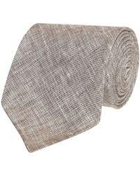Fumagalli 1891 - Beige Malibu Linen 5-fold Tie - Lyst
